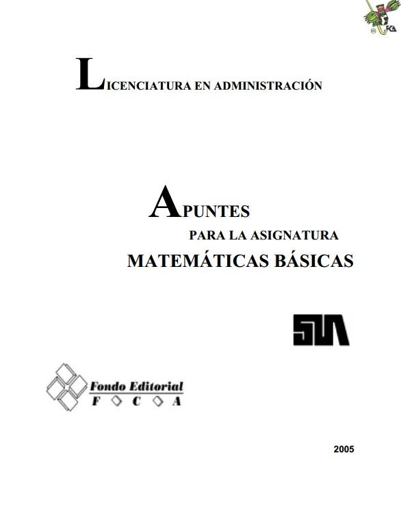 matemáticas básicas para el acceso a la universidad pdf gratis